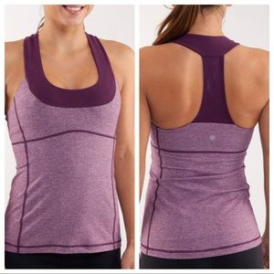 Lululemon Scoop Neck Tank in Heathered Plum/Plum